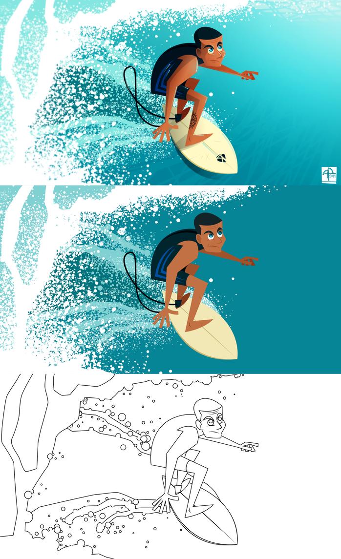 Surfer(process) by placitte2012