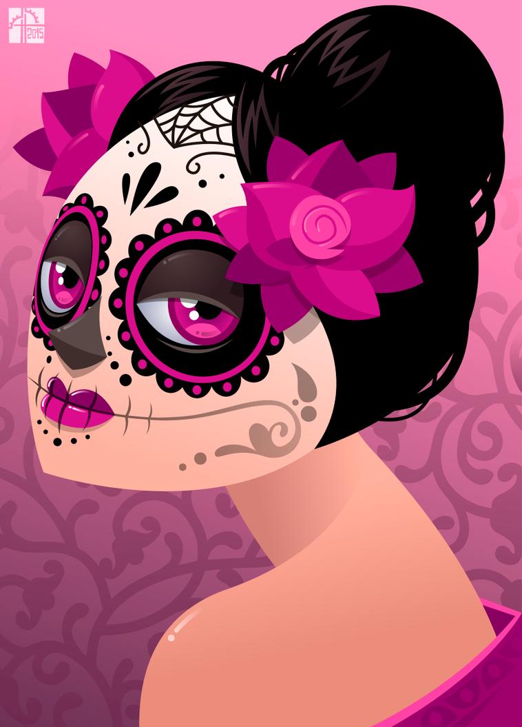 Calavera Girl by placitte2012