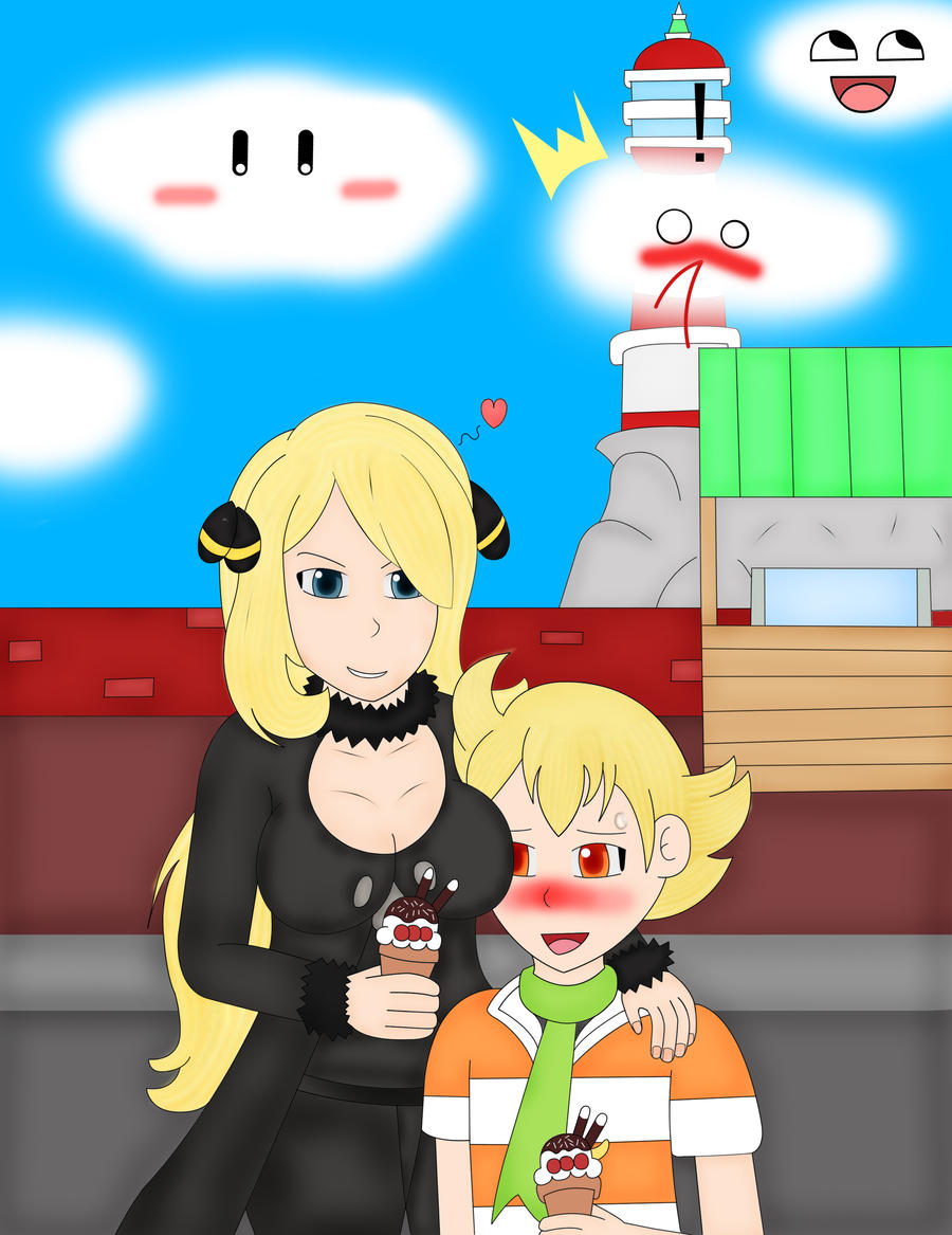 Ice Cream- Cynthia and Barry by PipoMadness1992 on DeviantArt