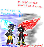 The Light vs Old Skool Chaos by TeenPioxys101