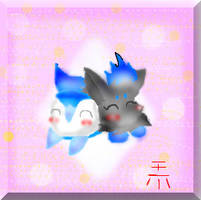 V-Day Gift- Jolly And Zorua by TeenPioxys101