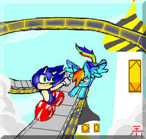 The Showdown At Equestria Rush Zone- Sonic Vs RD