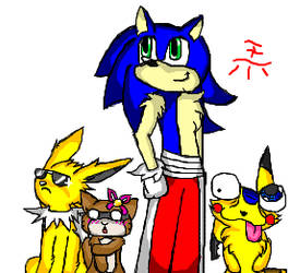 Pokemon Trainer Sonic And His Current Team by TeenPioxys101