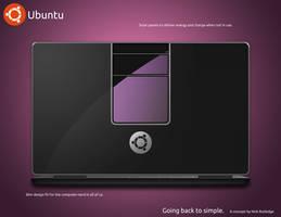Ubuntu Laptop Concept Back by eldron2323