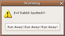 Evil Rabbit Warning by Chrissiannie