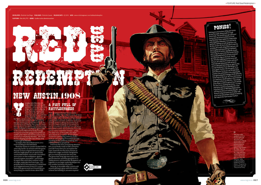 Red Dead Redemption Feature by Savides