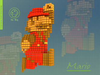 Squared Mario by theRedRage