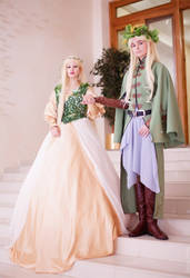 Thranduil and his lost wife by Verrett