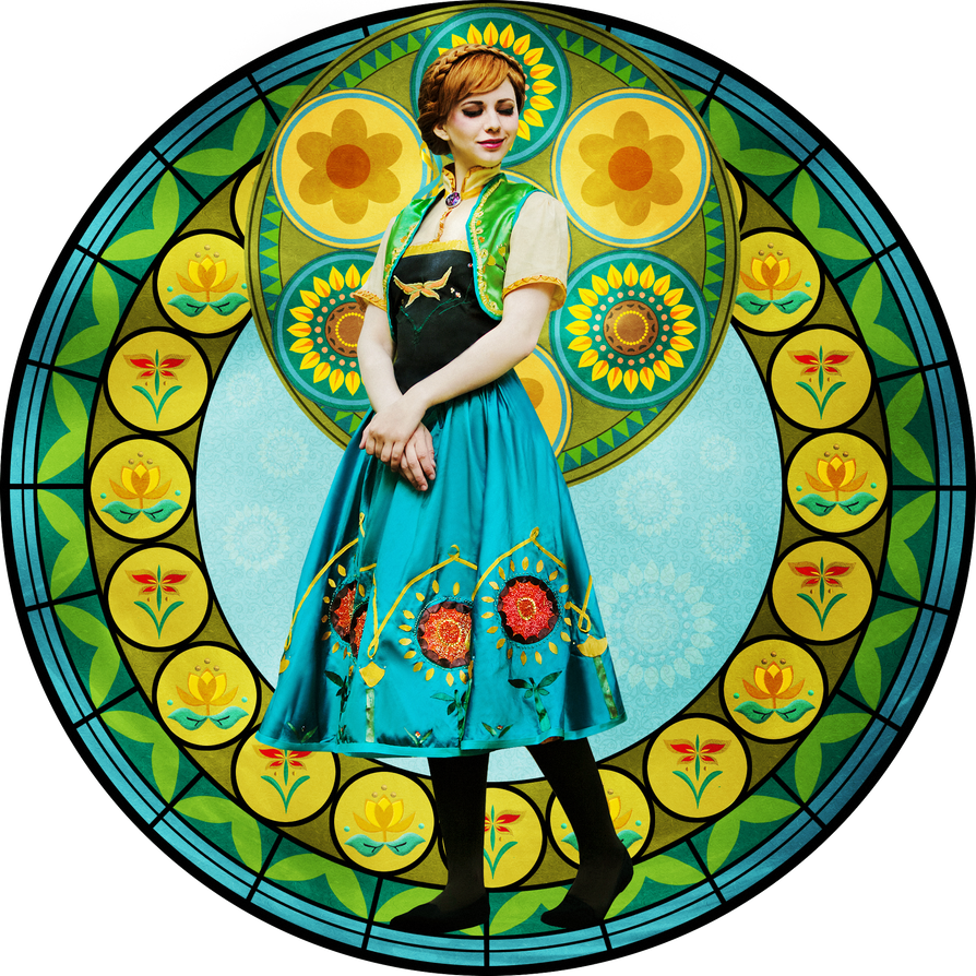 Frozen Fever - Anna - Stained-glass by Verrett