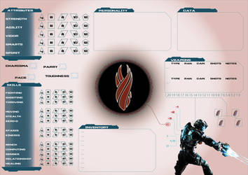 Dead Space Character Sheet by DesignHGreg