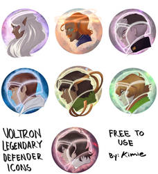 Voltron Icons by kimiezz
