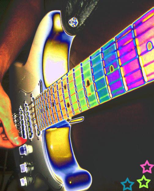 Rainbow Guitar by OeCrEw4LiFe14 on DeviantArt