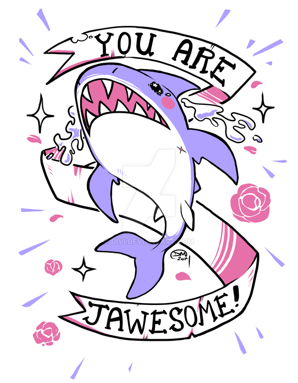 Jawesome Shark by divi