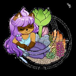 Choko and Succulent Terrarium Charm