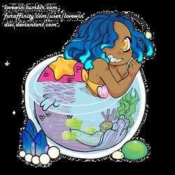 Angler Mermaid and Underwater Terrarium Charm