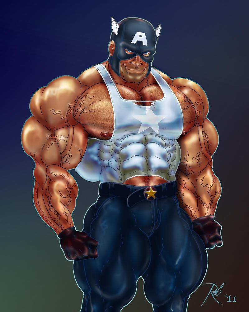 Buff Captain America by RobSaint on DeviantArt