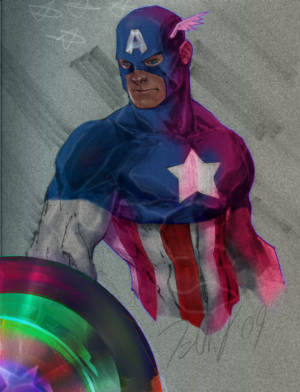 Captain America by Talent Caldwell by RobSaint