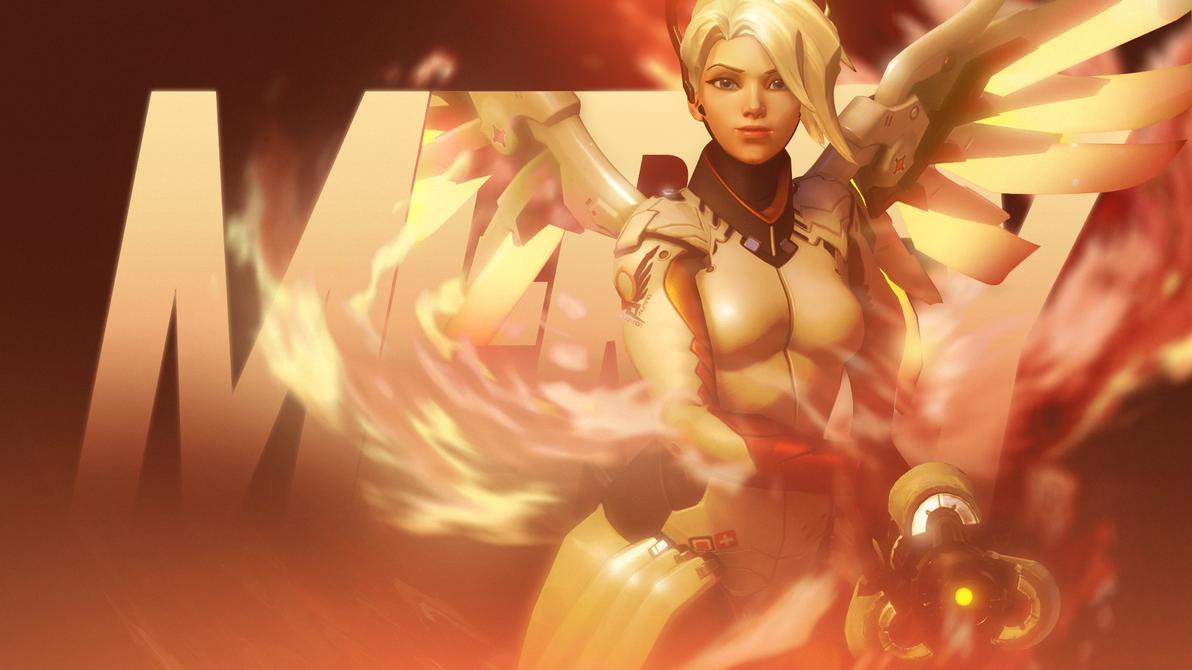 Overwatch - Mercy Wallpaper by MikoyaNx