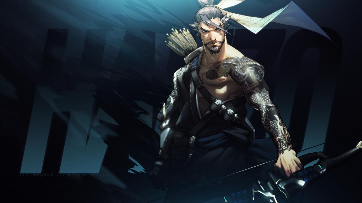 Overwatch - Hanzo Wallpaper by MikoyaNx