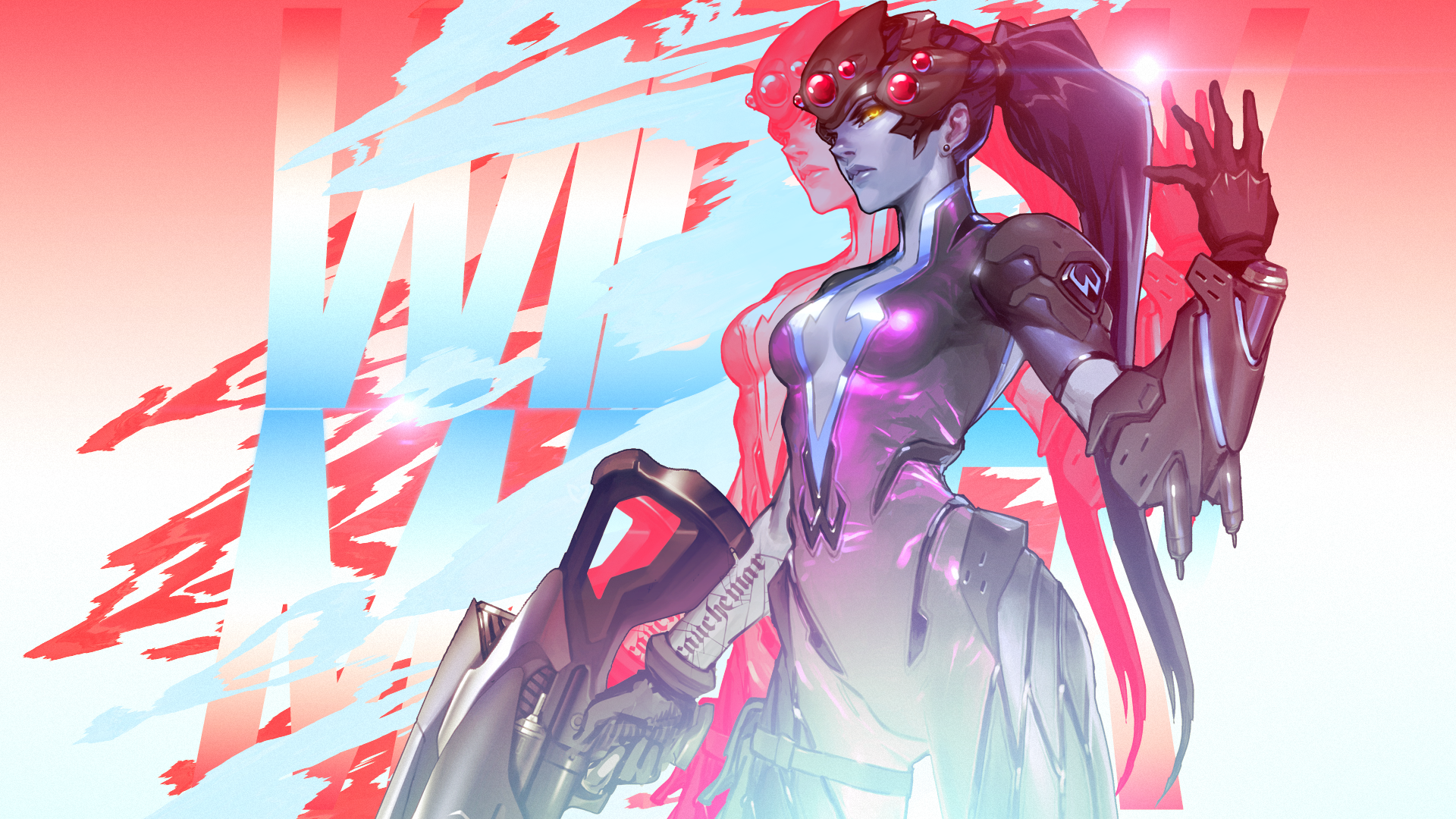 Overwatch - Widowmaker Wallpaper by MikoyaNx