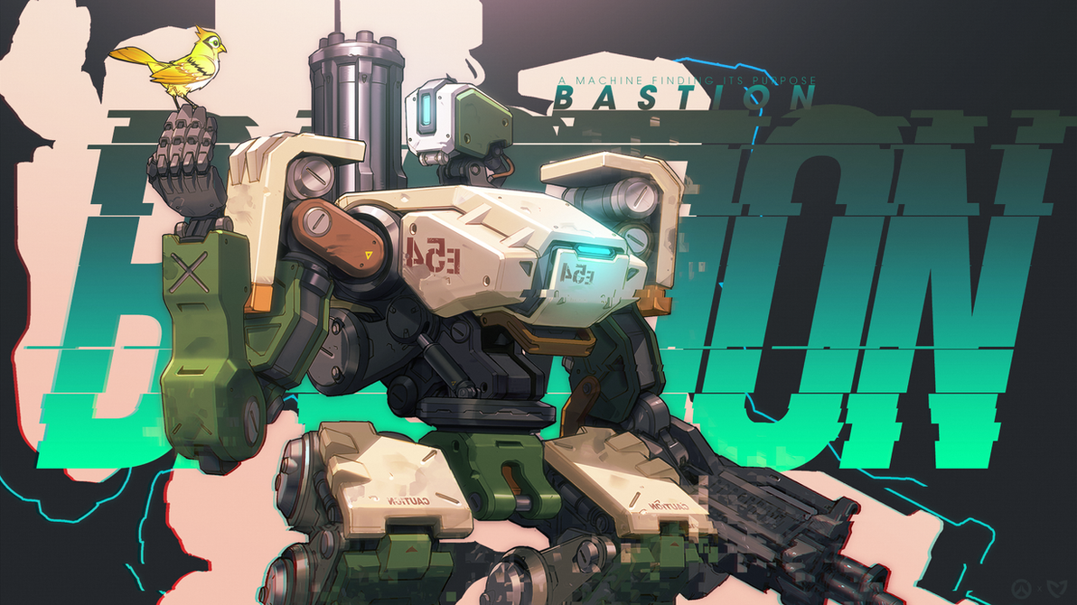 Overwatch - Bastion Wallpaper by MikoyaNx