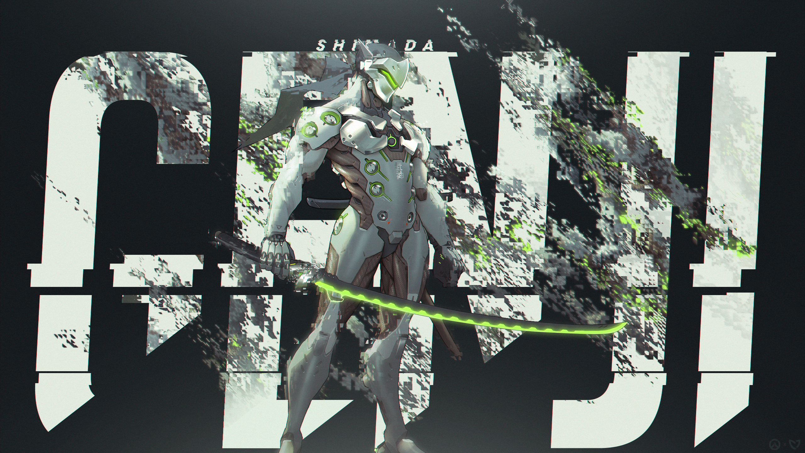 genji wallpaper 2560x1440 overwatch