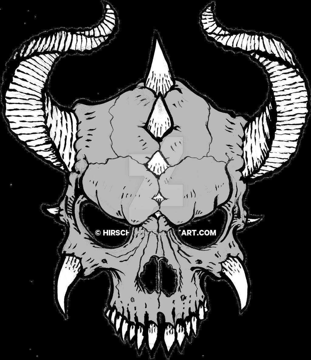 Horned Skull by Hirschler on DeviantArt