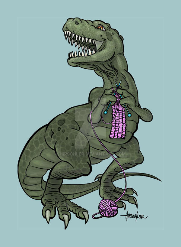 Knit-o-saurus by Hirschler