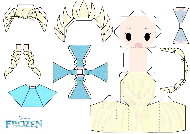 Elsa Papercraft Template Disney Frozen By Gr Aldanyta DeviantArt