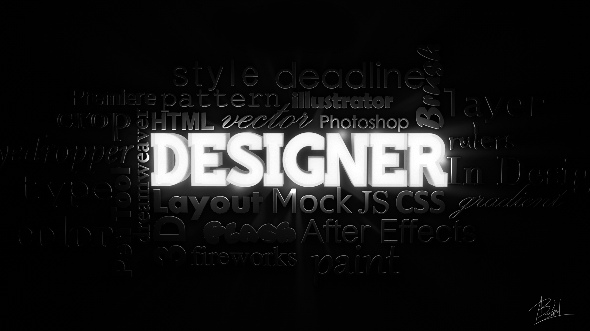 Designer wallpaper 3D by alin0090