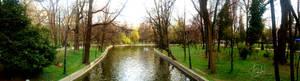 Panorama made in Cismigiu park Bucharest