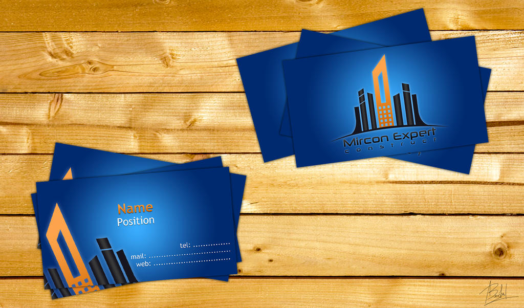 Business cards for a construction company by alin0090 on DeviantArt