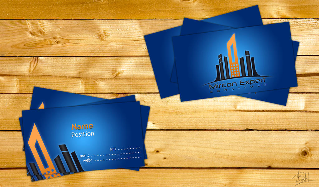 Business cards for a construction company by alin0090