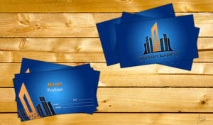 Business cards for a construction company