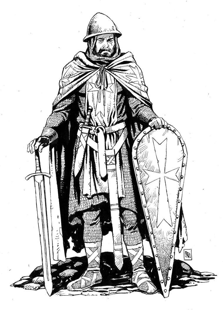 templar knight ink by bordon on DeviantArt