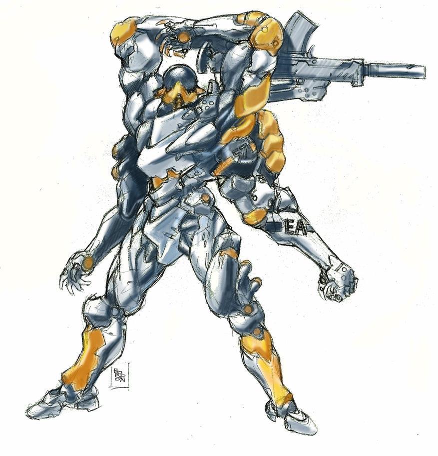 durgan baloo A14 armour mech color test by bordon