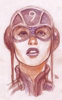 Ace girl - watercolour by bordon