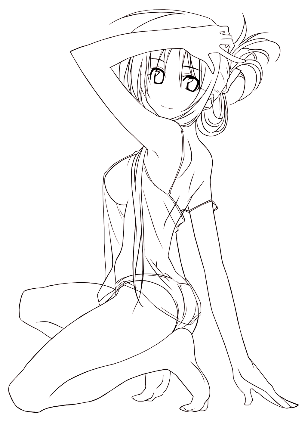 Line Drawing Dancer : Sword dancer lineart by cerberusyuri on deviantart