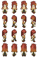 RPG Maker XP Charset - Luke fon Fabre (Long Hair) by CerberusYuri