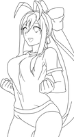 Mai Natsume 4 Lineart
