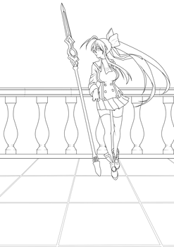 Mai Natsume 9 Lineart