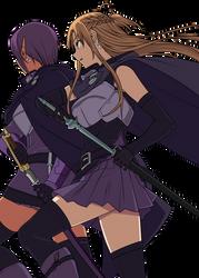 Kizmel and Asuna by CerberusYuri