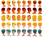 Colored turnarounds