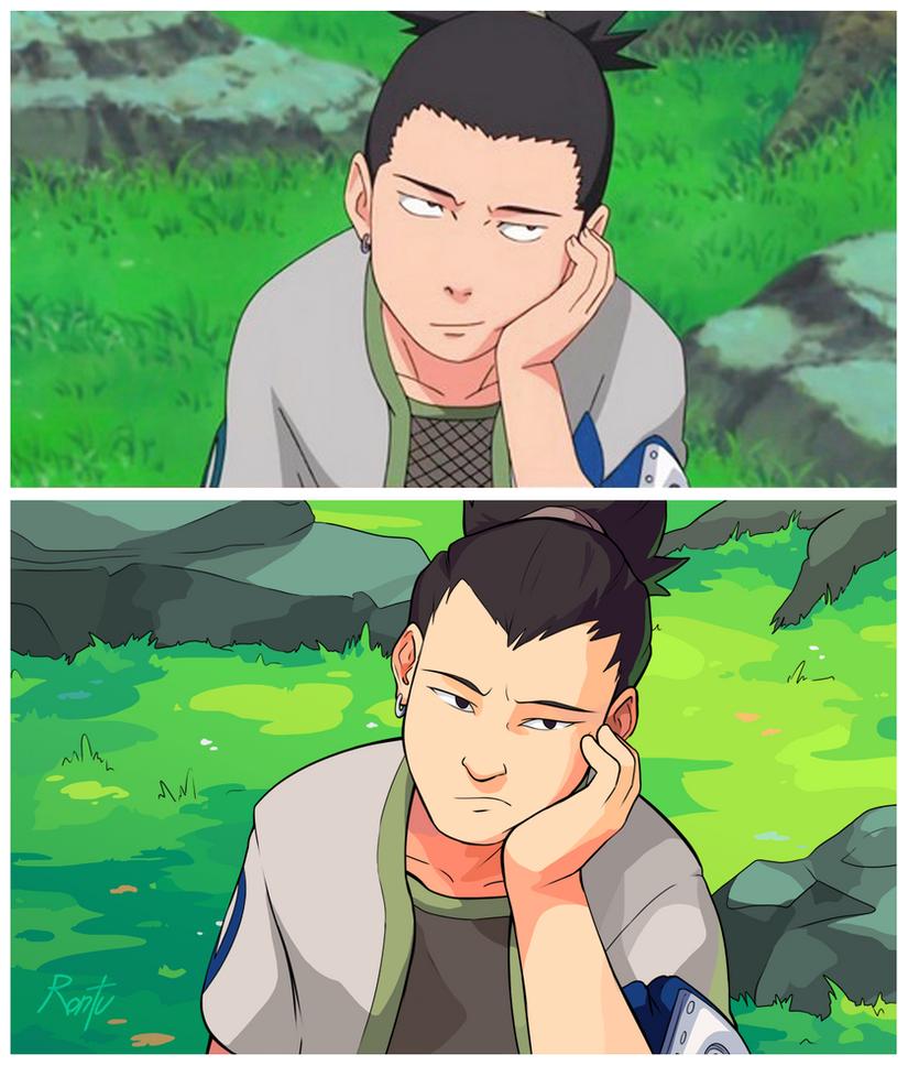 Haha Poor Naruto Is Ignored Again By Sakura: Shikamaru Screencap Redraw By Rontufox On DeviantArt