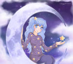 Art-Trade : Mochatchi - The Girl On The Moon