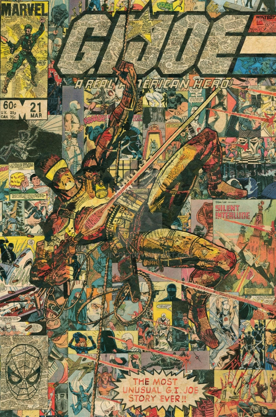 Comic Book Cover Collage : G i joe silent issue comic collage by flukiechic on