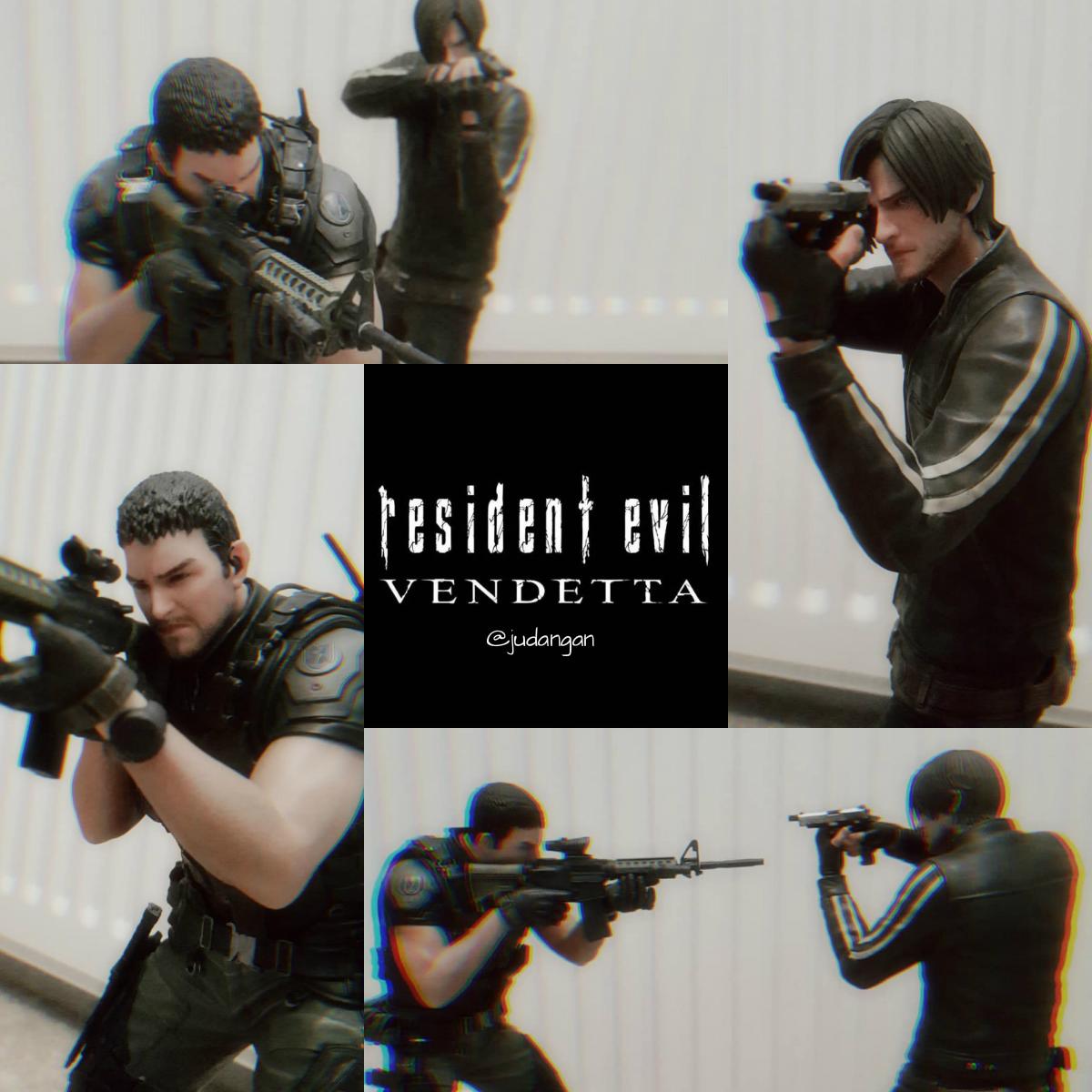 Resident Evil Vendetta Leon And Chris Figures By Ju Dan Gan On