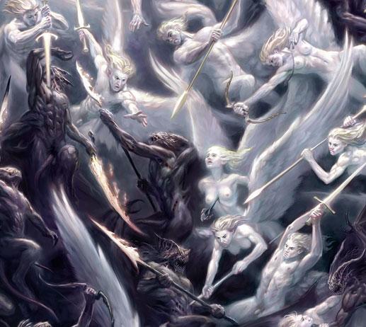 angels and demons battle art -#main