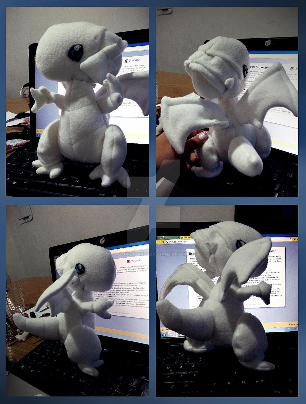 blue eyes white dragon plushie by yuki sparda on deviantart