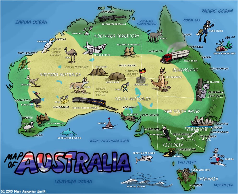 map of australia by freyfox